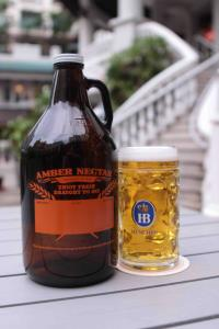 Amber Nectar Growler and Mug