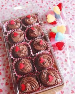 Chocolate Cupcake with Dark Chocolate Frosting(1)
