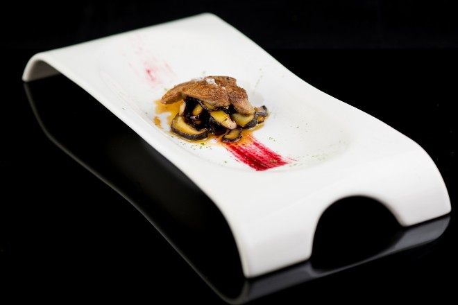 Violet Herbs - Roasted & Poached Foie Gras